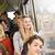 mutlu · kadın · otobüs · büyük · bir · grup · insanlar · kız - stok fotoğraf © gemenacom