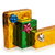 three colored beautiful boxes with gifts stock photo © geniuskp