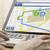 személy · GPS · térkép · laptop · navigáció · kéz - stock fotó © georgejmclittle