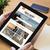 desktop tablet travel agency website on screen stock photo © georgejmclittle