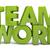 команде · оказывать · текста · работу · фон · зеленый - Сток-фото © georgejmclittle