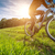 sport bike cycling in the beautiful meadow detail photo stock photo © geribody
