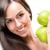 nő · tart · almák · étel · természet · szépség - stock fotó © geribody