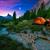 alpes · couple · feu · de · camp · montagnes · séance - photo stock © geribody