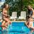 dört · arkadaşlar · yüzme · havuzu · su · aile - stok fotoğraf © Geribody