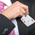 businessman pulling out his pocket aces cards stock photo © geribody