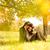 felice · Coppia · albero · autunno · parco · cielo - foto d'archivio © Geribody