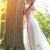 красивой · невеста · подвенечное · платье · Открытый · портрет · брюнетка - Сток-фото © geribody