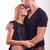mooie · xxl · vrouw · zoenen · echtgenoot · studio - stockfoto © geribody