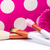 makeup brushes on polka dots pink background stock photo © geribody