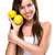 healthy lifestyle   beautiful pretty woman is holding two lemons stock photo © geribody