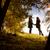 el · ele · tutuşarak · sonbahar · orman · aile - stok fotoğraf © geribody