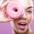 шоколадом · Sweet · красивая · женщина · рот · макроса · лице - Сток-фото © geribody
