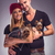 loving couple with two yorkshire terrier dogs stock photo © geribody