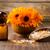 homeopatikus · gyógyszer · száraz · virágok · fából · készült · felület - stock fotó © gitusik