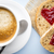 fresh coffee grain slice of bread with jam heart shape stock photo © gitusik