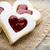 kalp · bisküvi · ahşap · masa · kare · görüntü · sevmek - stok fotoğraf © gitusik