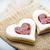 kurabiye · kalp · şekli · ahşap · gıda · beyaz · tatlı - stok fotoğraf © gitusik