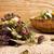 té · cuchara · de · madera · hojas · beber · negro · Asia - foto stock © gitusik