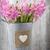 jacinto · rosa · vaso · mesa · de · madeira · verde · cabeça - foto stock © gitusik