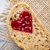 grain slice of bread with jam heart shape stock photo © gitusik