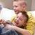 two little boys laughing stock photo © giulio_fornasar