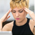 女性 · 頭痛 · デスク · 若い女性 - ストックフォト © giulio_fornasar