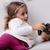 играет · фаршированный · животного · девочку · мишка - Сток-фото © giulio_fornasar