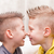 nose to nose little friends or brothers stock photo © Giulio_Fornasar