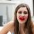 брюнетка · женщину · красоту · долго · красные · губы - Сток-фото © giulio_fornasar
