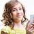портрет · девочку · смартфон · изолированный · белый · девушки - Сток-фото © giulio_fornasar