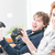 two animated brothers playing video games stock photo © giulio_fornasar