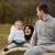 mère · père · enfants · fille · séance - photo stock © giulio_fornasar