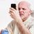старший · человека · видение · читать · Смотреть - Сток-фото © Giulio_Fornasar