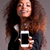 アフリカ · 女性 · スマートフォン · 肖像 · かわいい - ストックフォト © giulio_fornasar