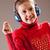 女の子 · リスニング · ヘッドホン · 音楽を聴く · 青 · 幸せ - ストックフォト © Giulio_Fornasar