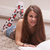 güzel · kız · okuma · kitap · halı · oturma · odası · genç - stok fotoğraf © Giulio_Fornasar