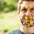 retrato · cara · flores · barba · natureza - foto stock © Giulio_Fornasar