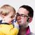 おしゃぶり · 赤ちゃん · 男 · 口 · 見える · カメラ - ストックフォト © giulio_fornasar