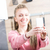 woman making a selfie in her kitchen stock photo © giulio_fornasar