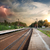 bad weather over railroad stock photo © givaga