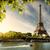 eiffel · tur · nehir · ağaç · Paris · Fransa - stok fotoğraf © givaga
