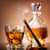 vidrio · whisky · cigarro · superior · piedra - foto stock © givaga