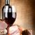wijnglas · vlees · wijn · oude · doek · voedsel - stockfoto © givaga