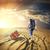 gündoğumu · çöl · insanlar · yeşil · siyah · bulut - stok fotoğraf © givaga
