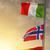vlaggen · verschillend · landen · vlaggestok · blauwe · hemel · vlag - stockfoto © givaga