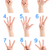 collage hand showing number stock photo © givaga
