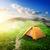 kempingezés · sátor · reggel · napfény · tájkép · felső - stock fotó © givaga