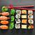 sushi · ayarlamak · hizmet · taş · gıda - stok fotoğraf © givaga