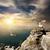 três · gaivotas · céu · nuvens · paisagem · pássaro - foto stock © givaga